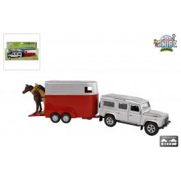 Kids's Globe Land Rover met paardentrailer