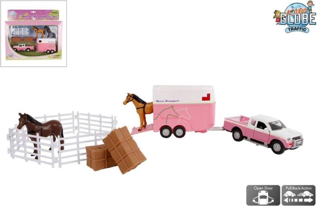 Kids's Globe Mitsubishi met paardentrailer en paarden