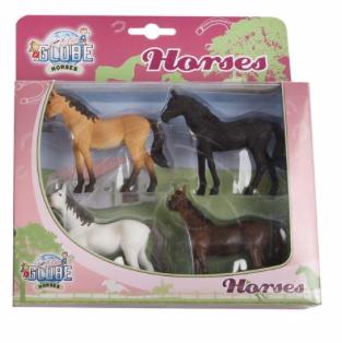 Kids's Globe Set van 4 paarden